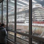 Meyer werft dok brug kijken schip